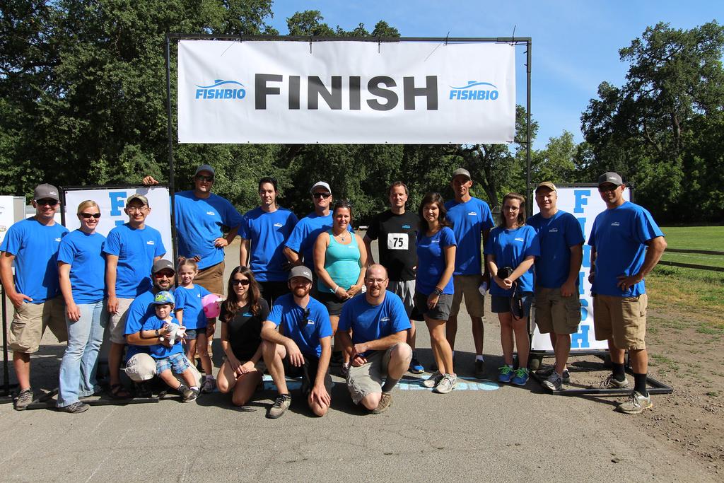 FISHBIO crew at the Salmon Run