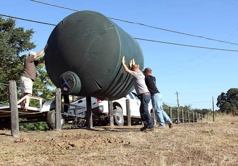 Unloading Water Tank
