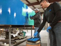 Applying Color Resin