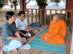 Metting with the head monk