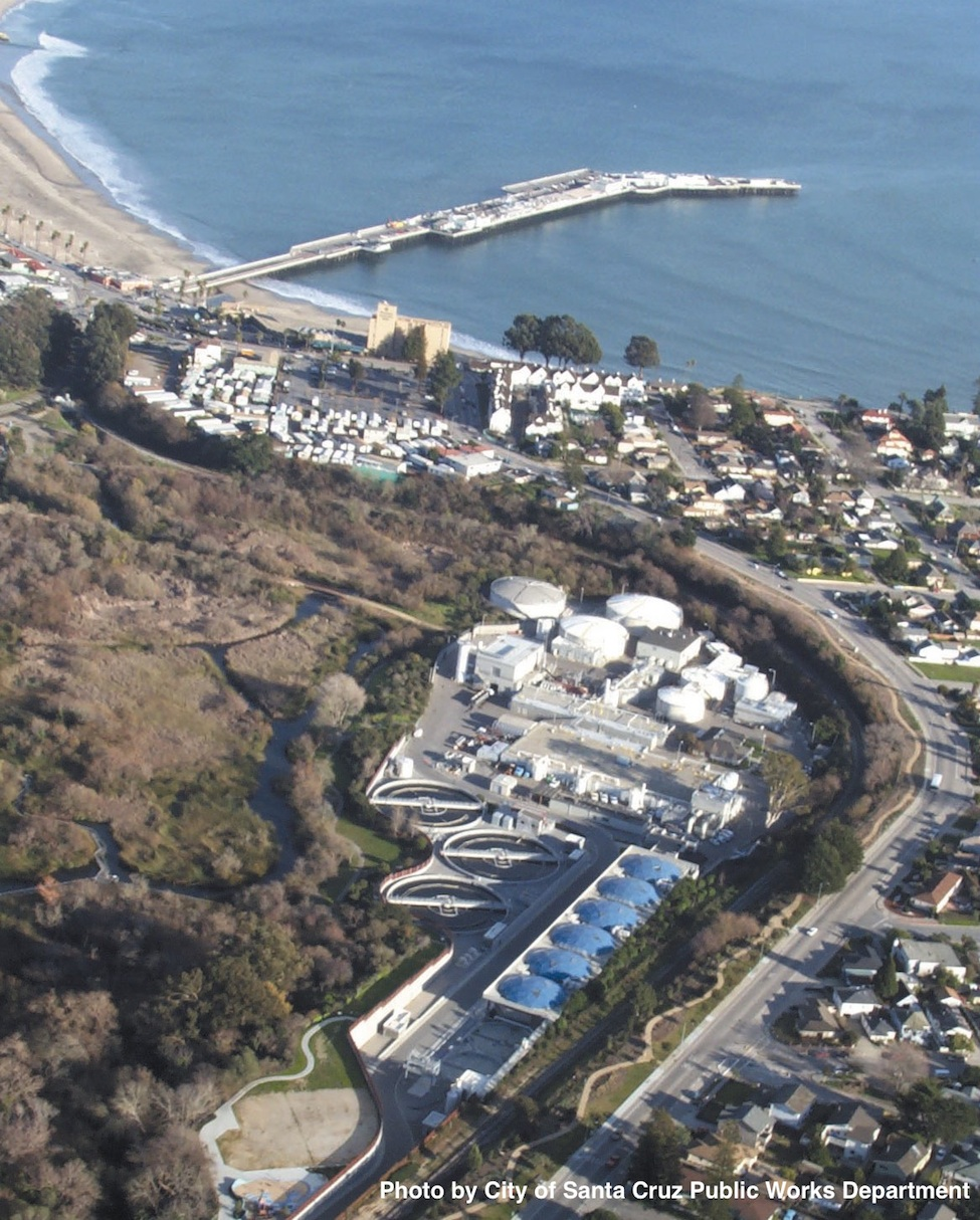 Aerial view of Waste Water Treatment Facility