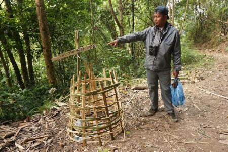 Bamboo Trashcan