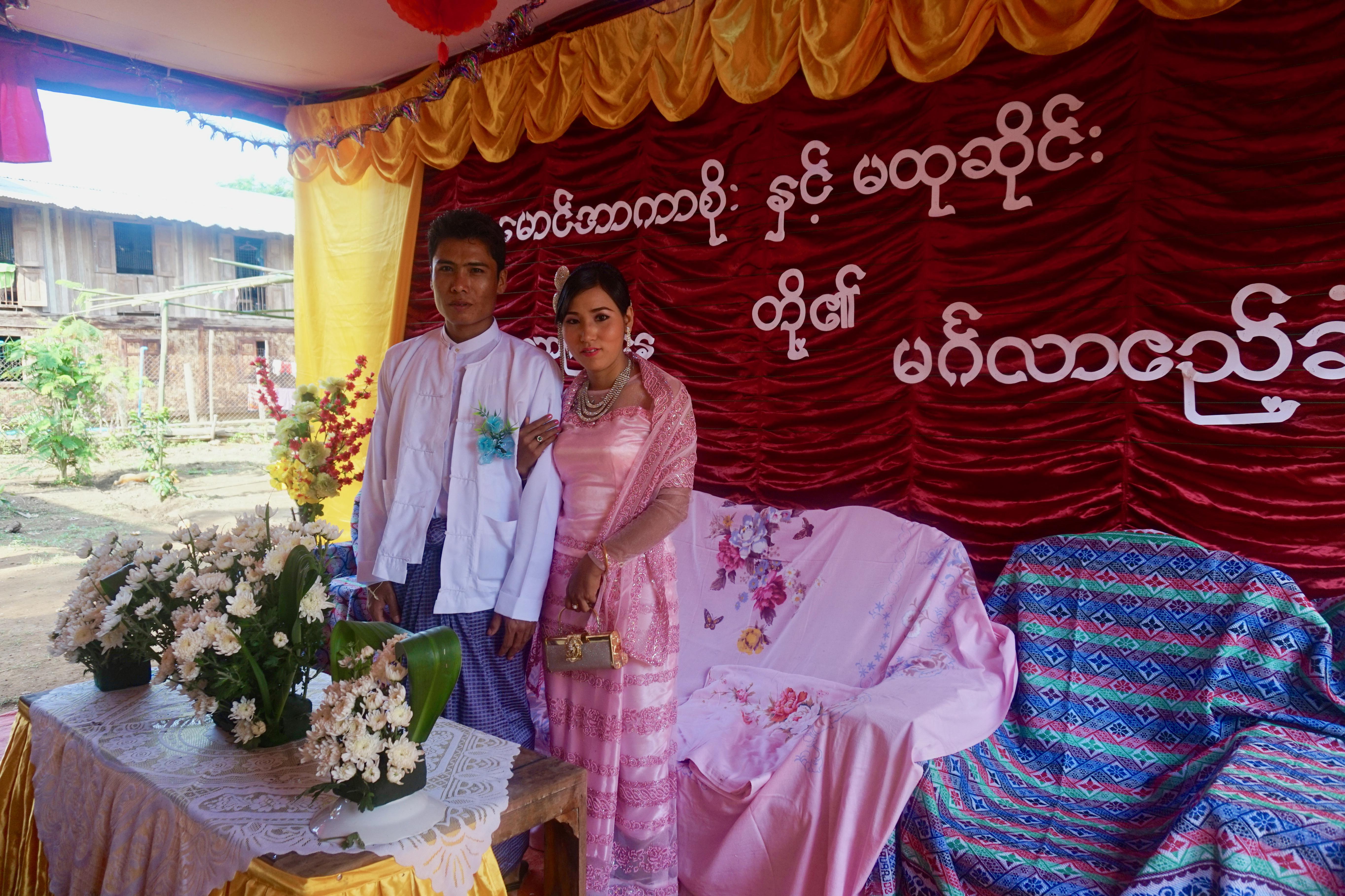 Burmese wedding party