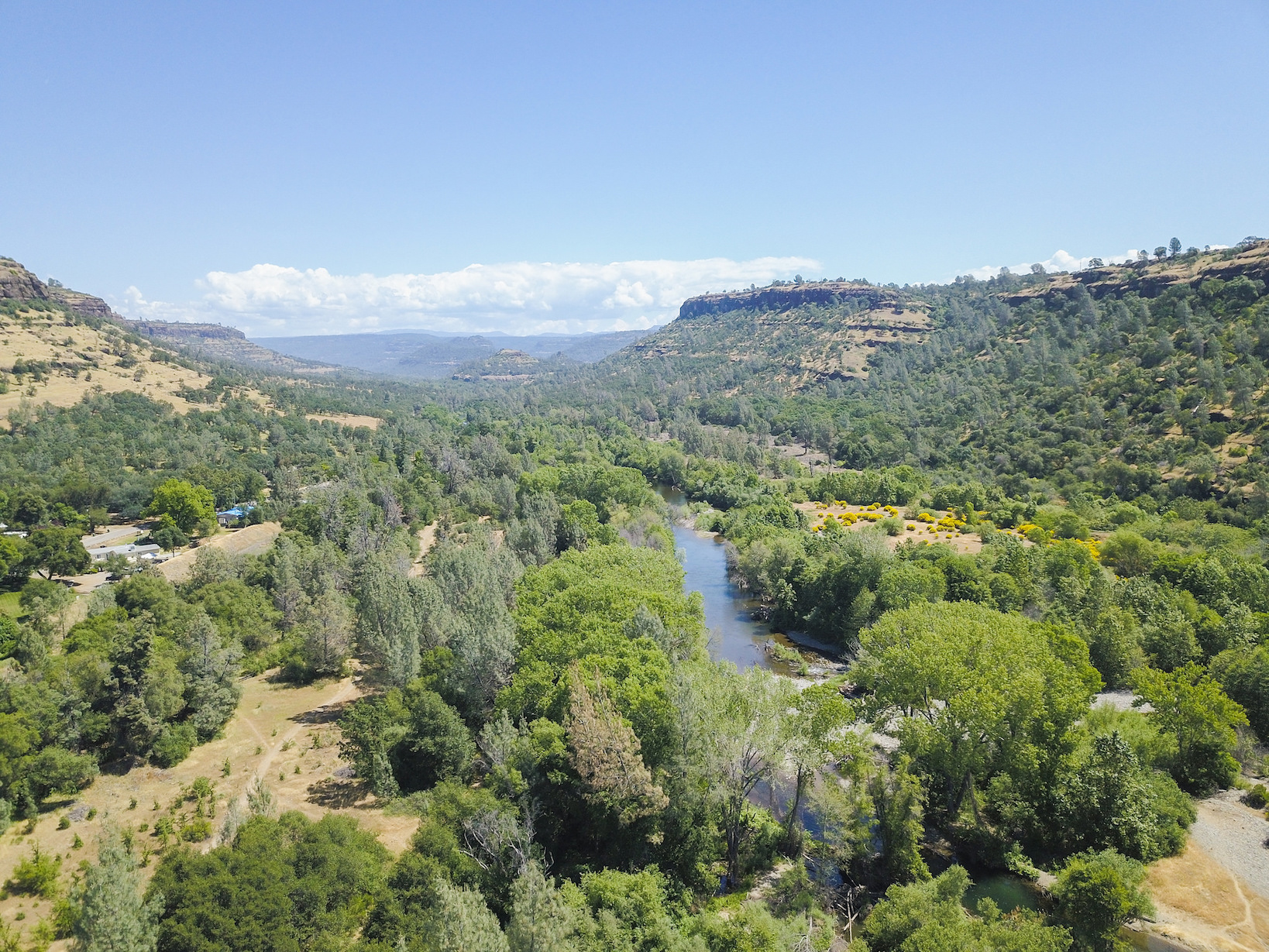 Butte Creek canyon drone photo