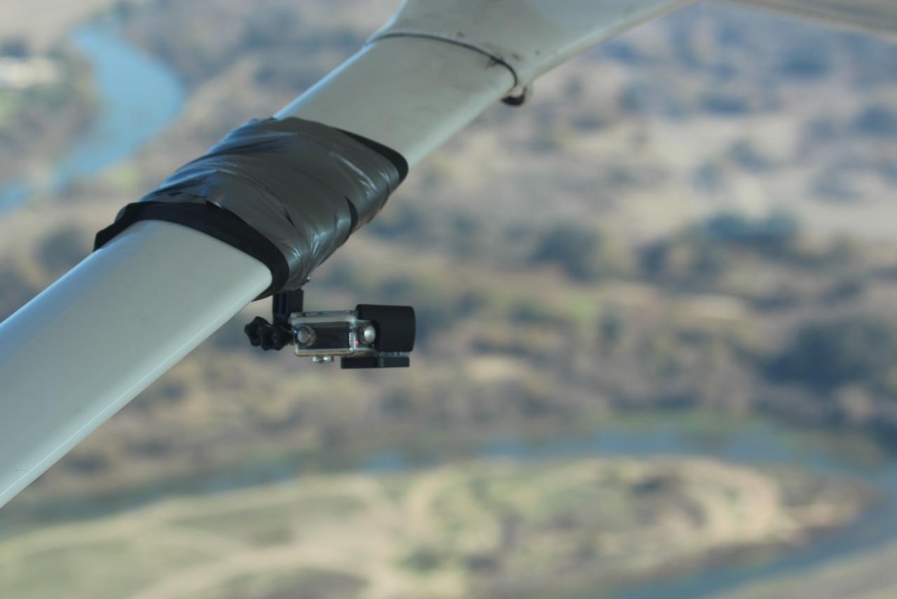 Camera in flight