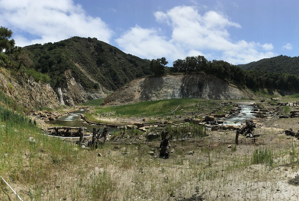 Carmel River restoration at San Clemente Dam removal site