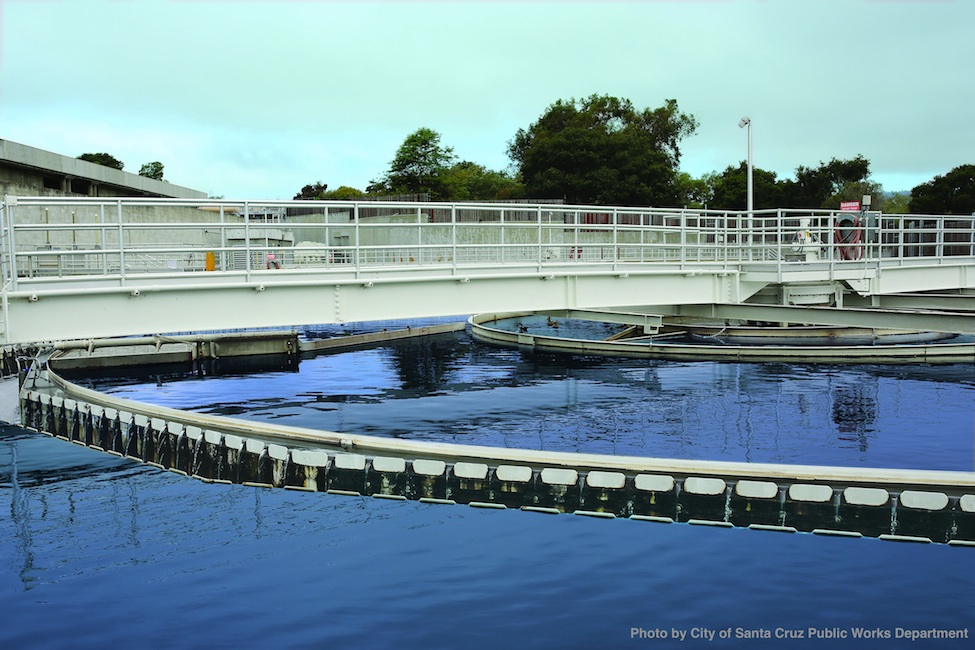 Clarifier at the Waste Water Treatment Facility