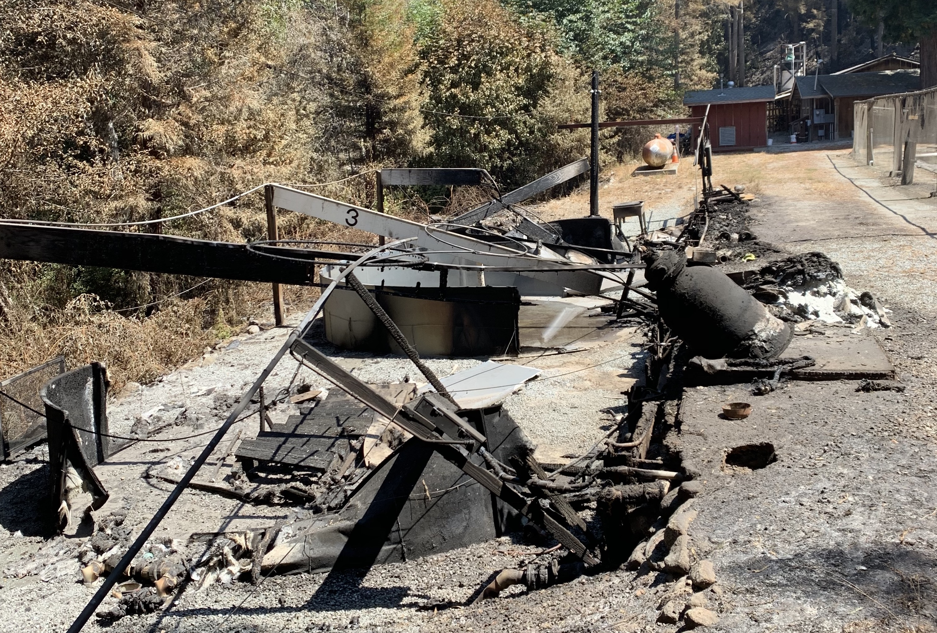 Damage to Monterey Bay Salmon and Trout project hatchery after fire