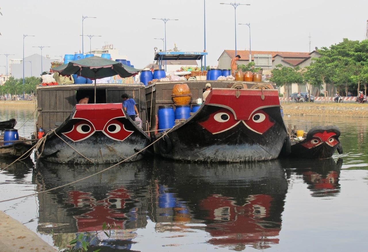 Eyes on boats in Vietnam