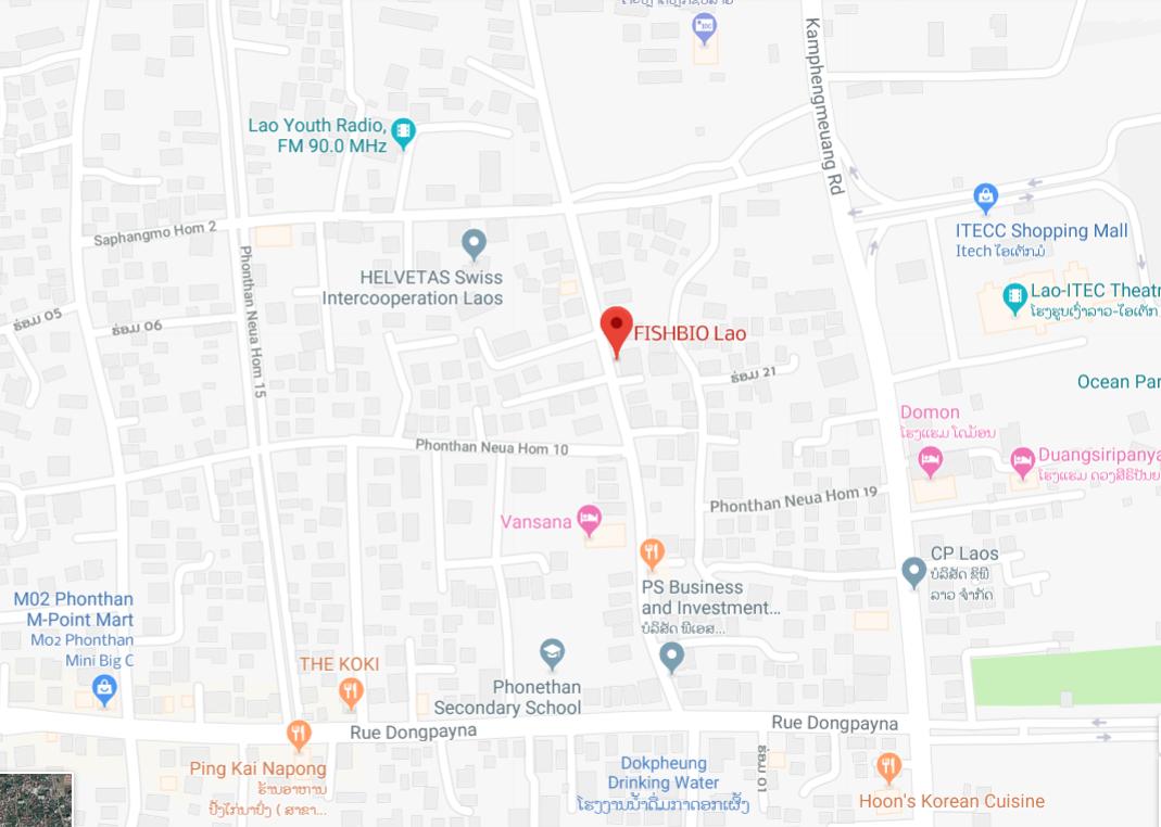 FISHBIO Laos Office Map 2019