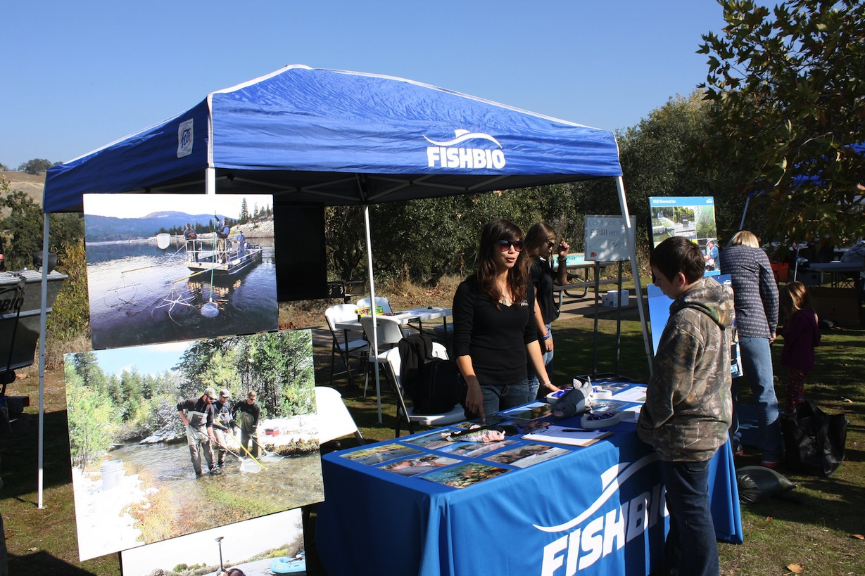 FISHBIO Salmon Festival booth