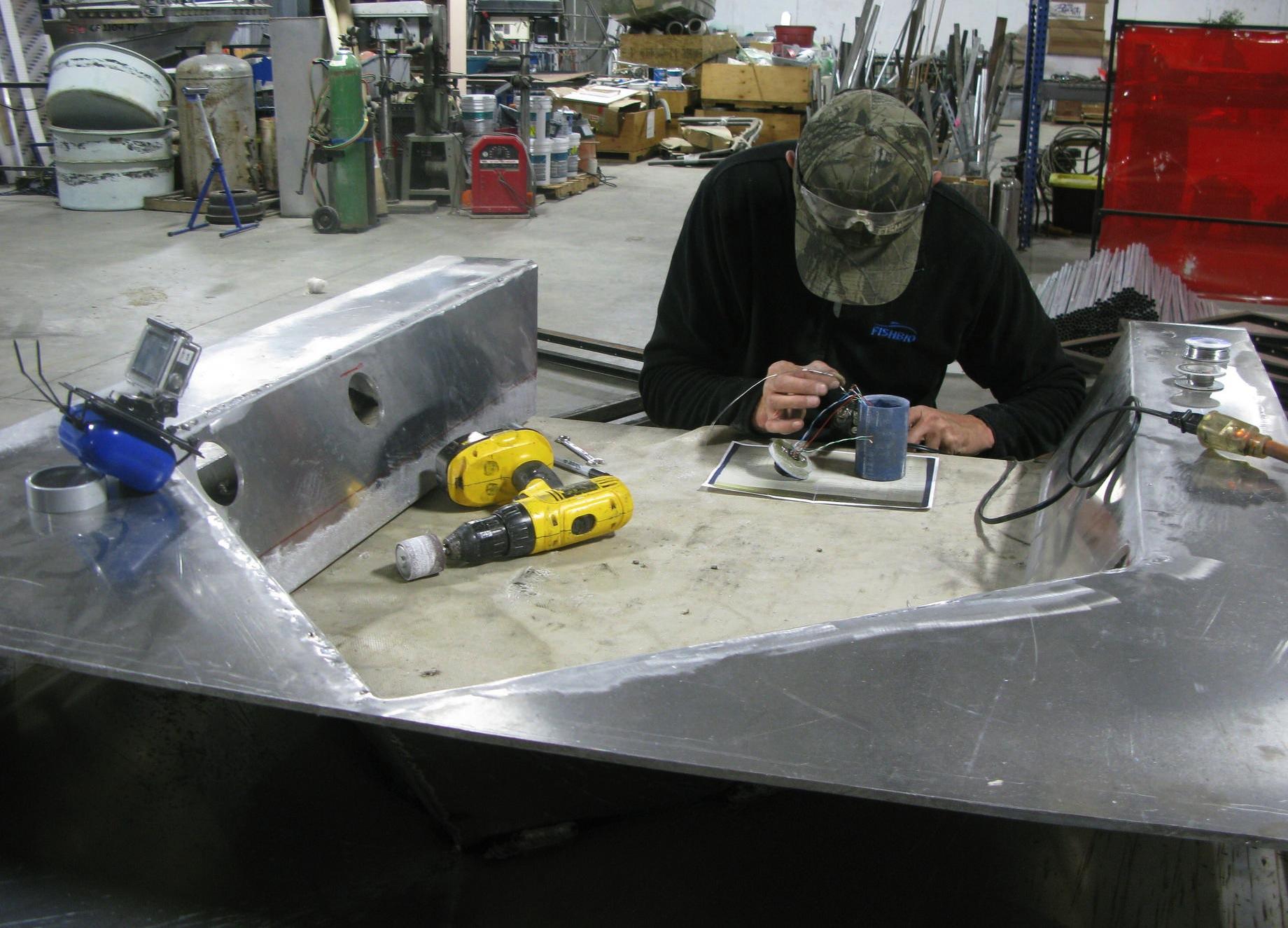 Fabricating fish ladder camera housing