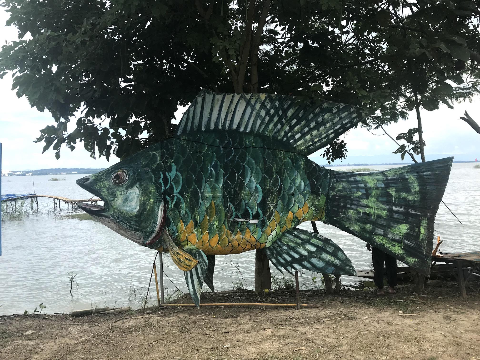 Fish statue Thailand