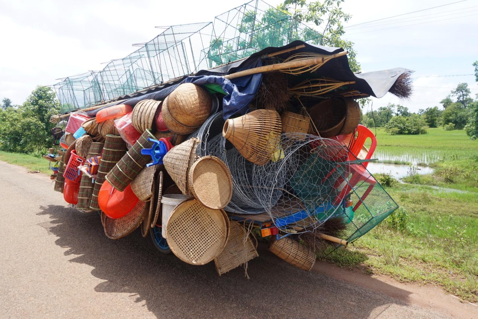 Fish trap van in Cambodia