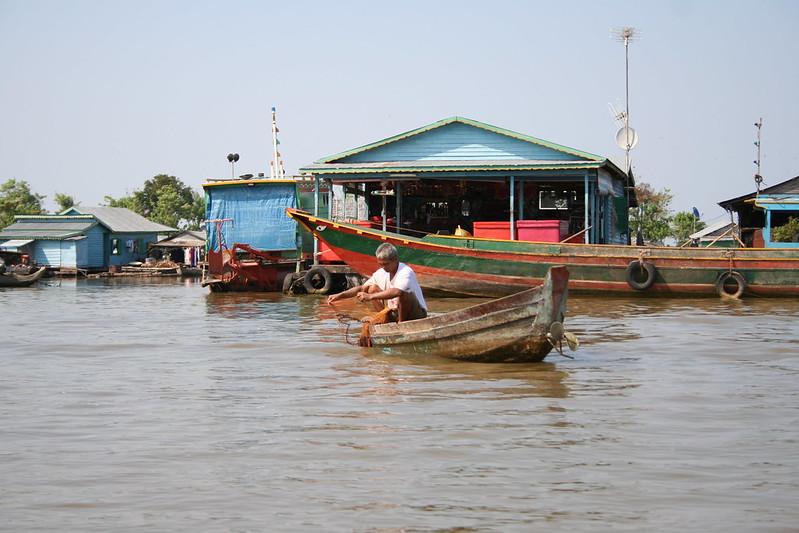 Fisher in Tonle Sap Lake