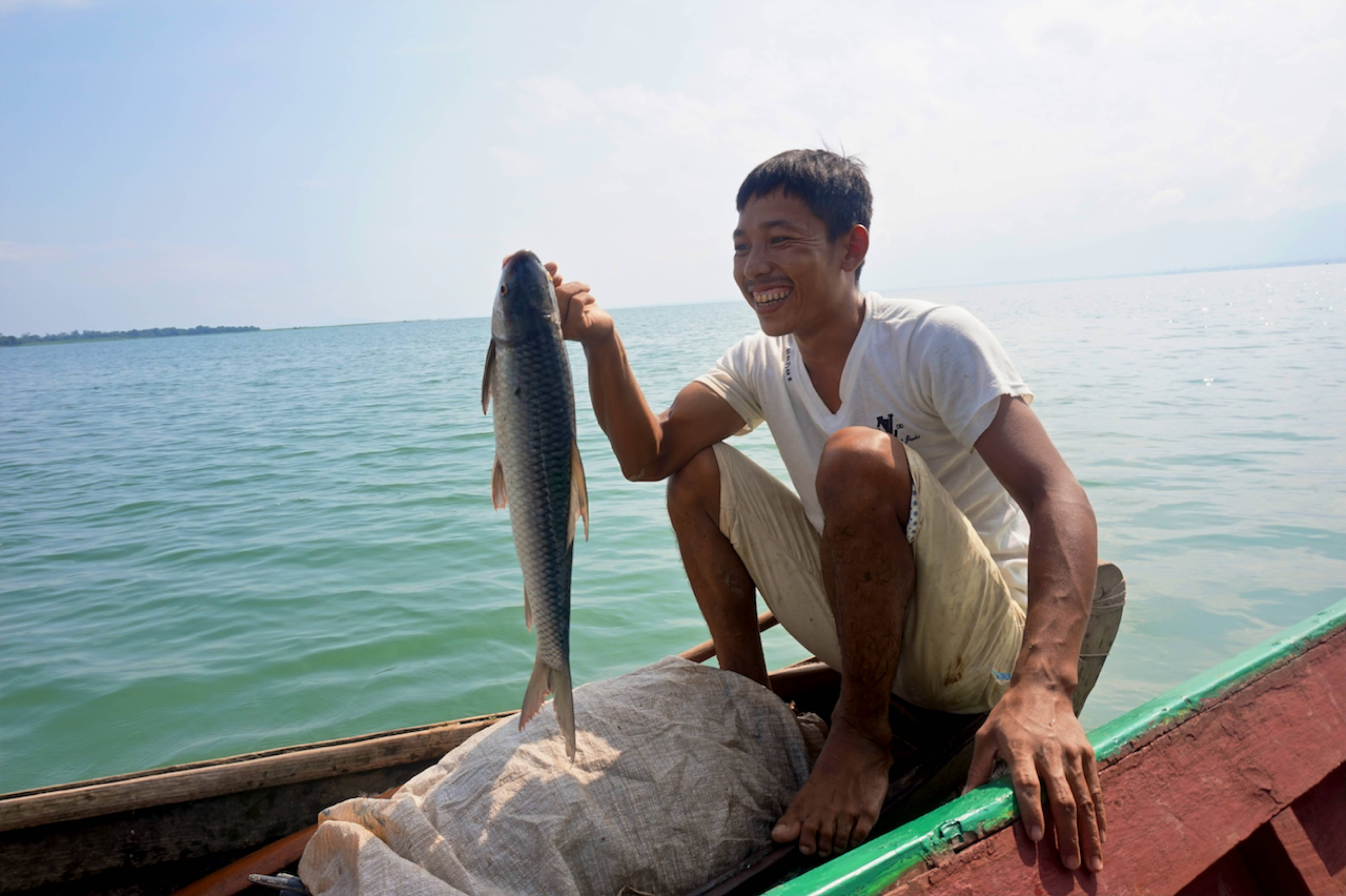Fisherman with big catch