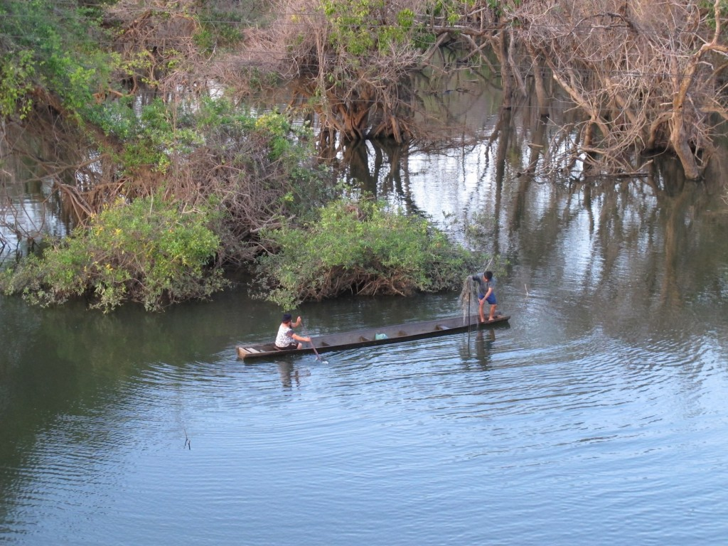 Fishers in flooded forest