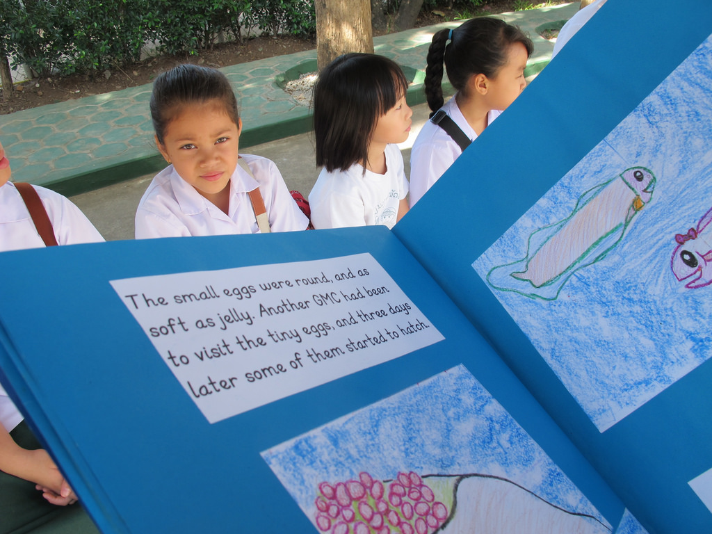 Giant catfish storybook in Laos World Fish Migration Day