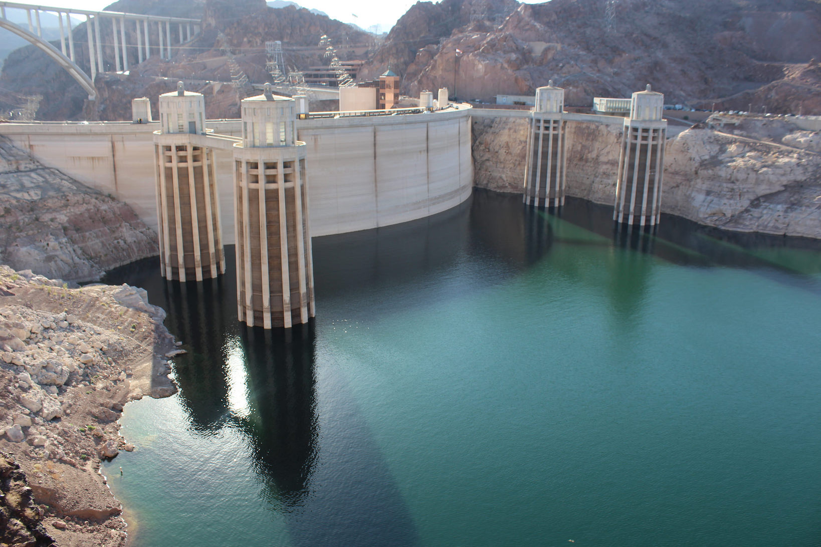 Hoover Dam Intake Towers on the Colorado River