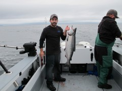 Chris with salmon