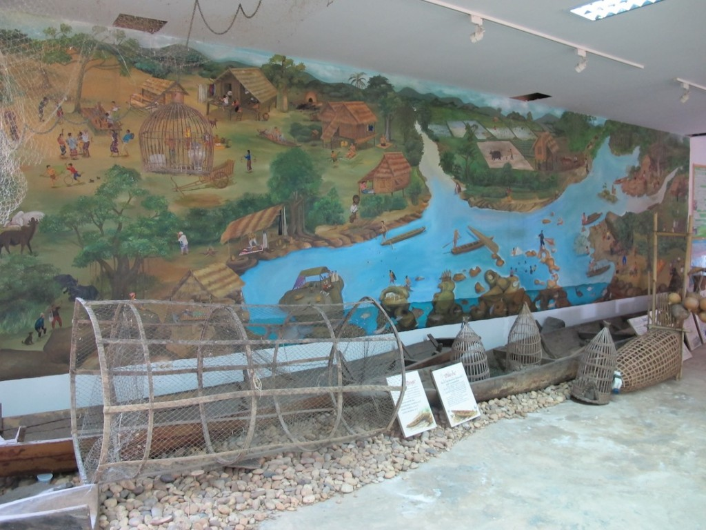 Fishing display at the Pak Moun Museum