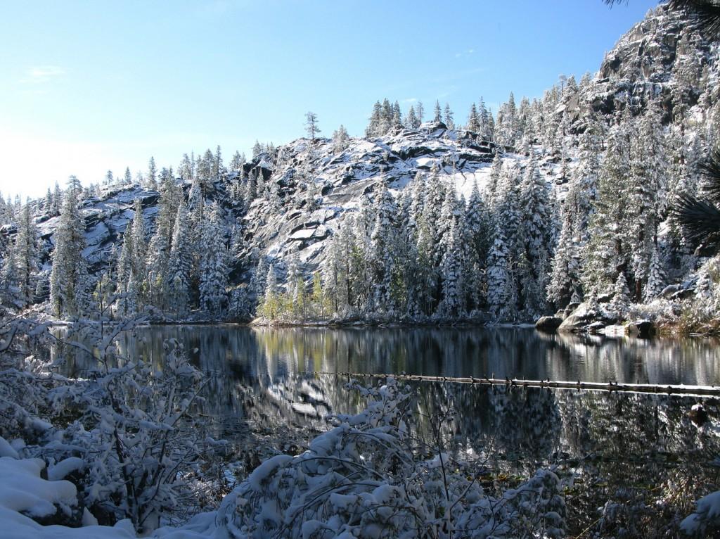 Lake Ward after snow