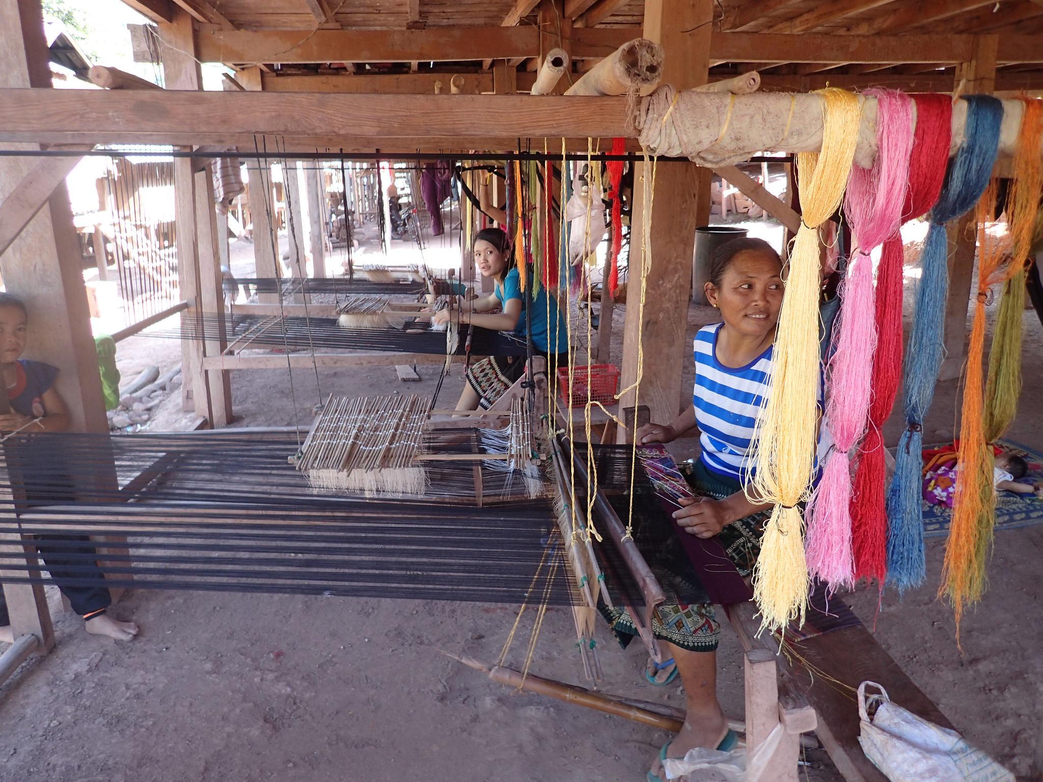 Lao weavers