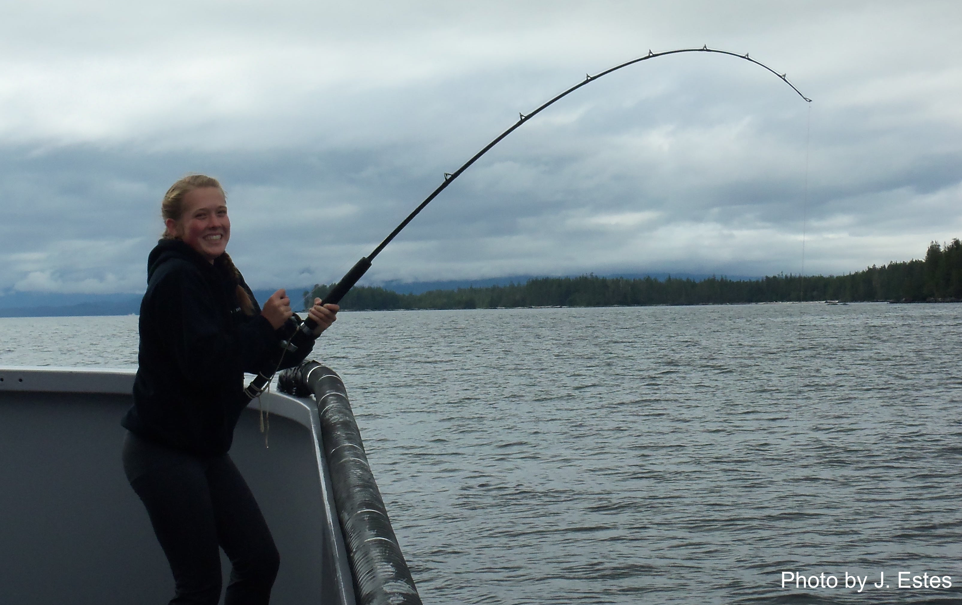Madisyn Pyorre halibut fishing