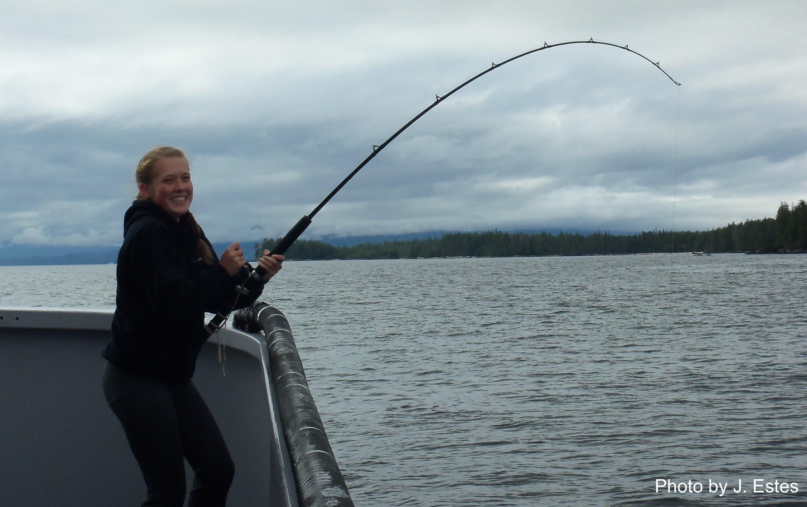 Madisyn Pyorre halibut fishing