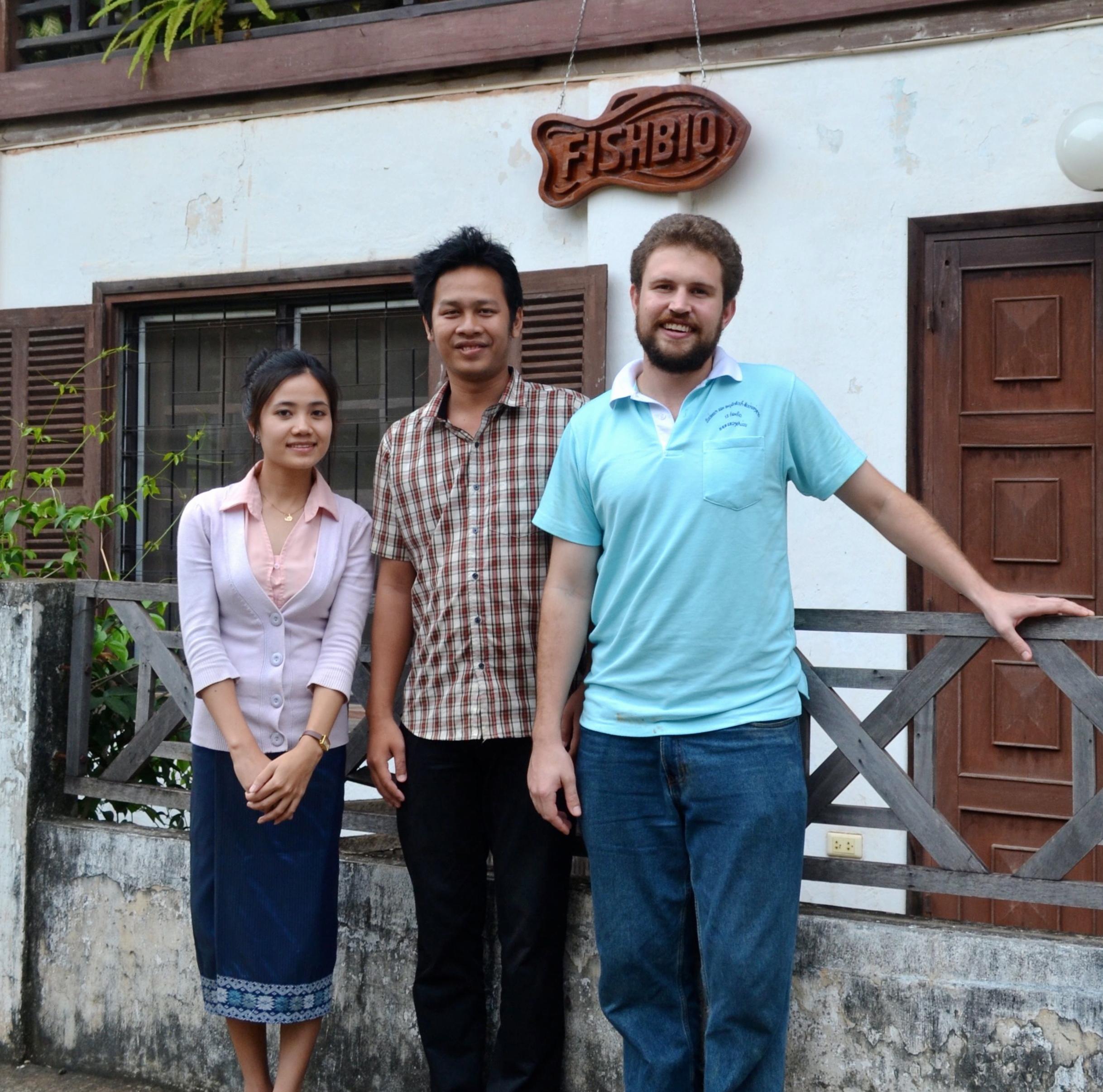 FISHBIO's new Lao staff