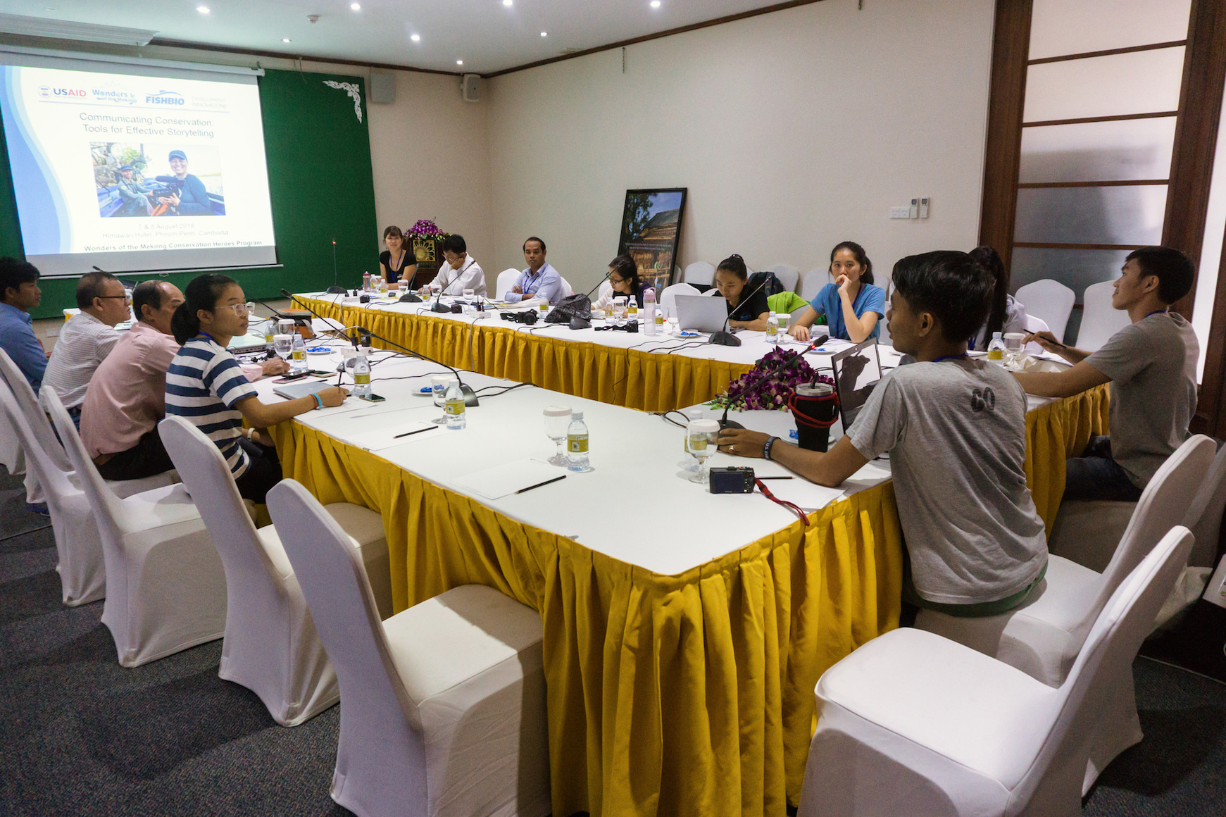 Mekong Conservation Heroes storytelling workshop room
