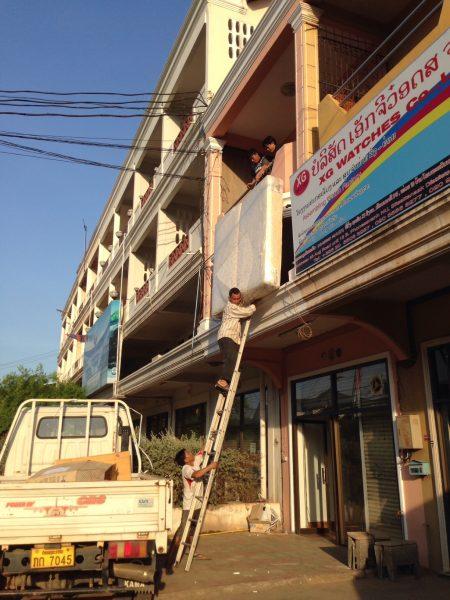 Moving mattress Lao office