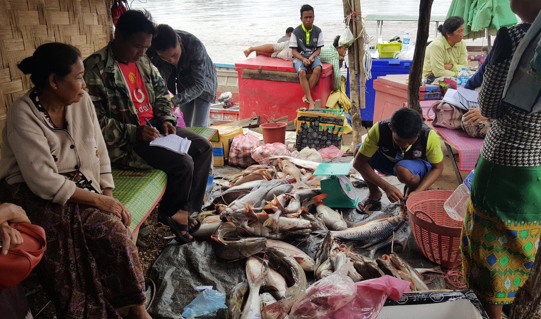 Nakasang fish landing site