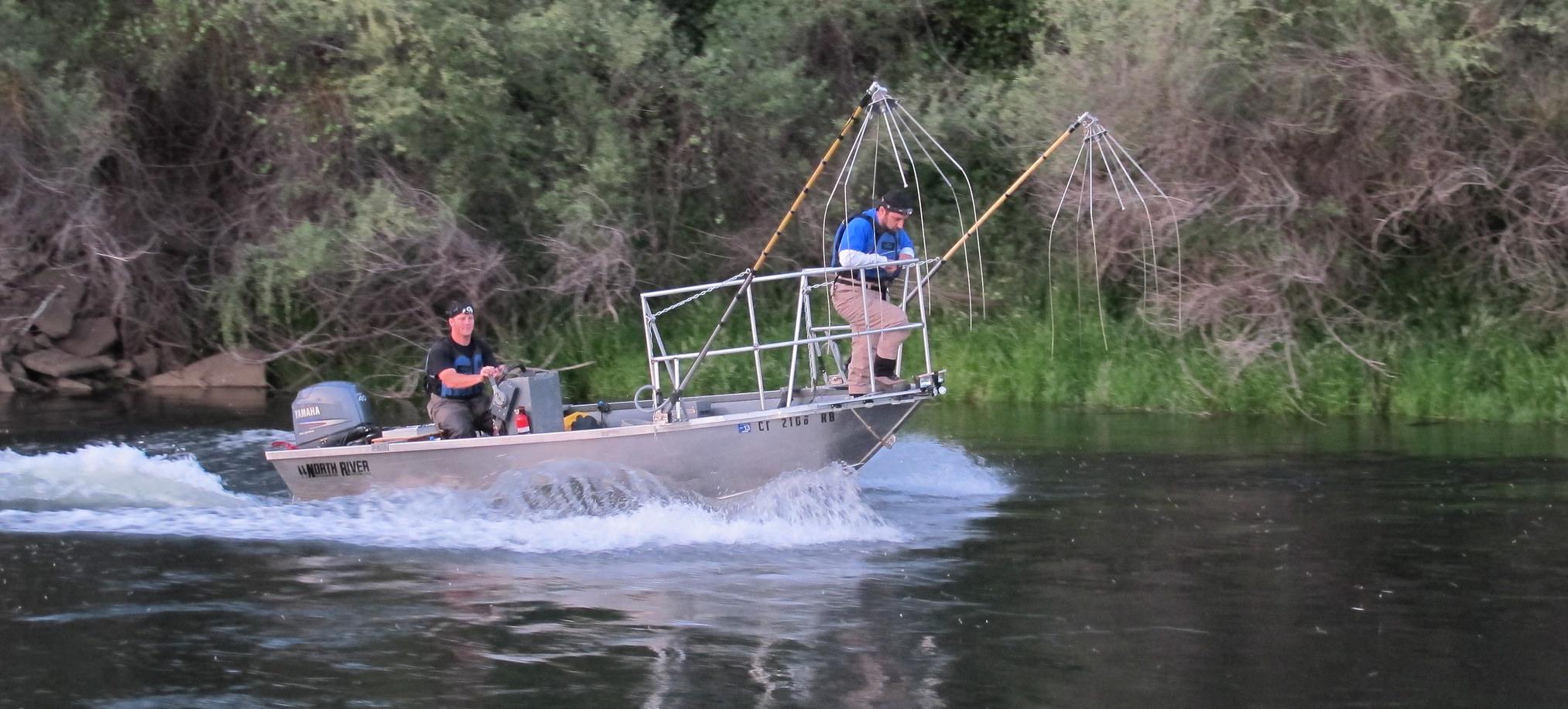 North River electrofishing boat