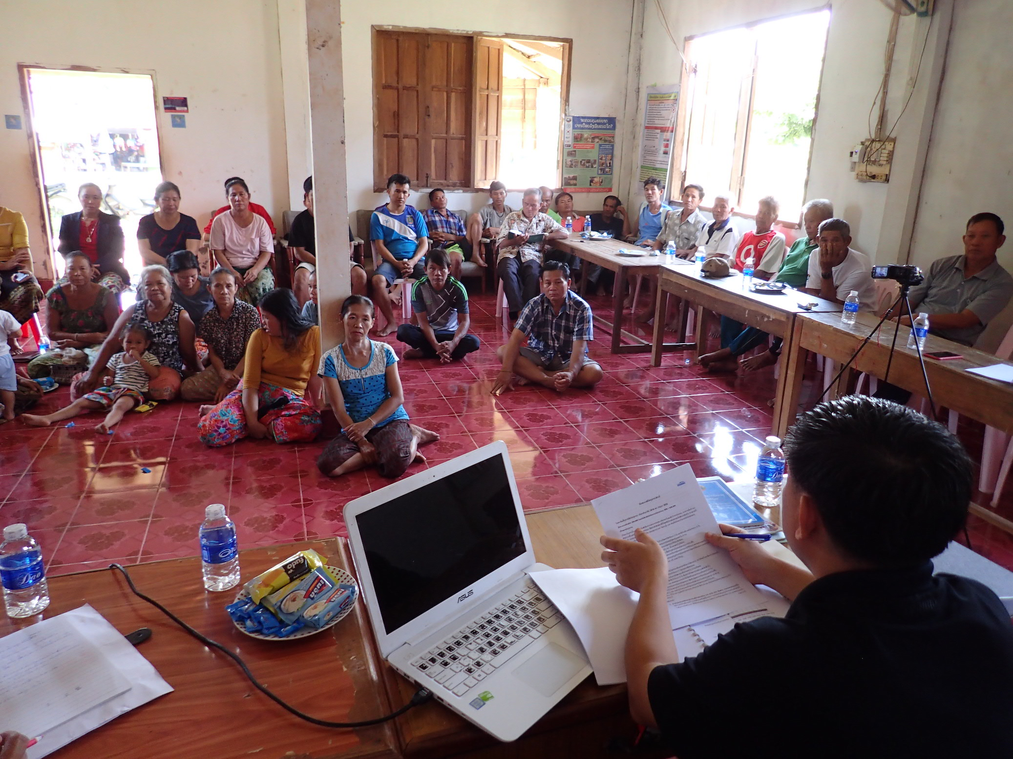 Community consultation meeting in Ang Noi village