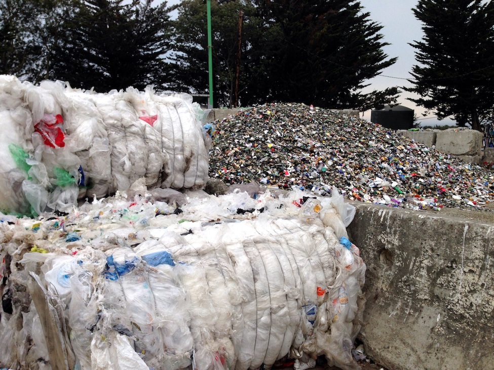 Plastic at the Santa Cruz Landfill