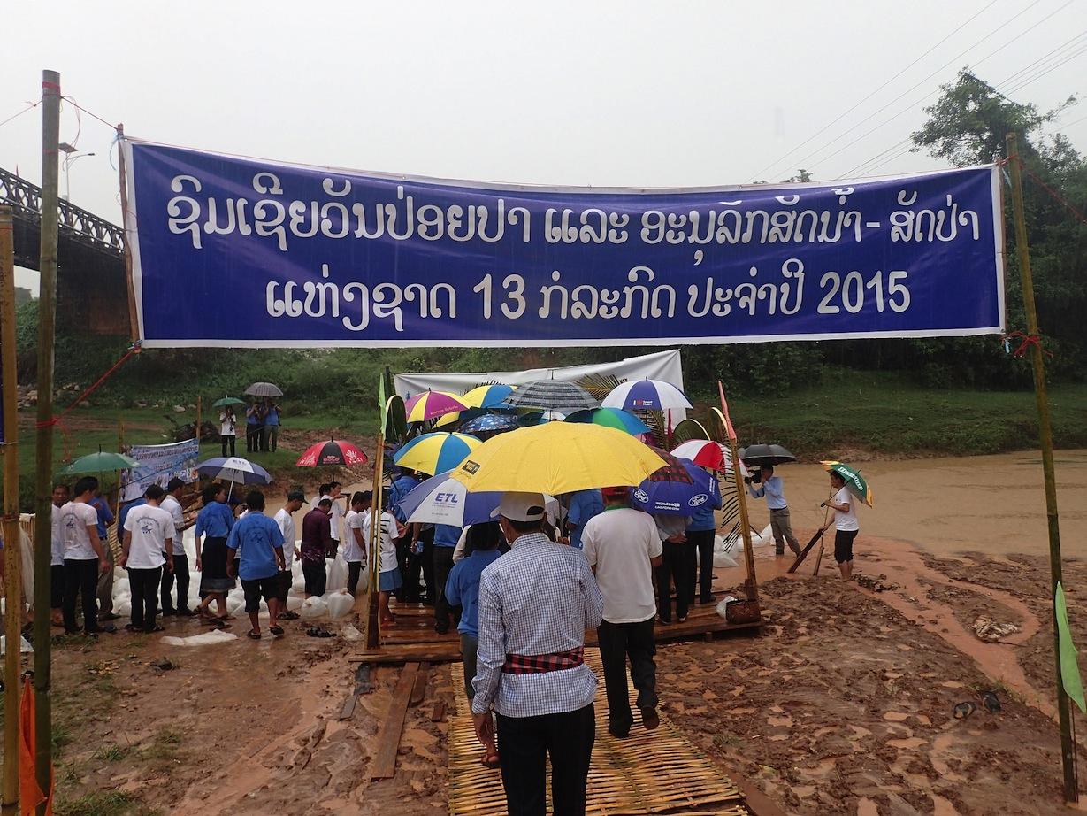 Rain on Fish Releasing Day in Laos