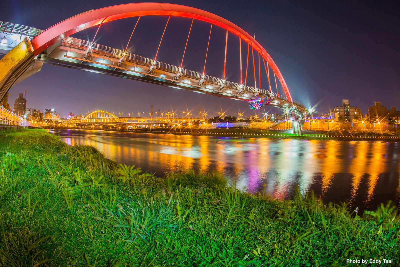 Rainbow Bridge at Keelung River in Taiwan