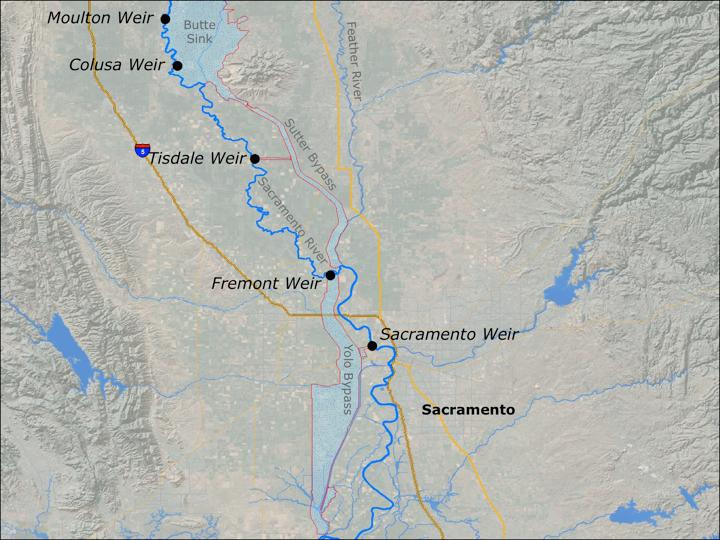 Sacramento River weirs