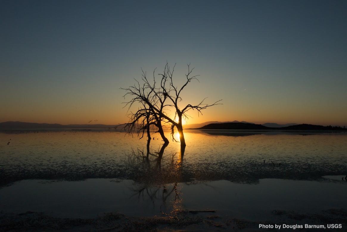 Sunset Over Salton Sea