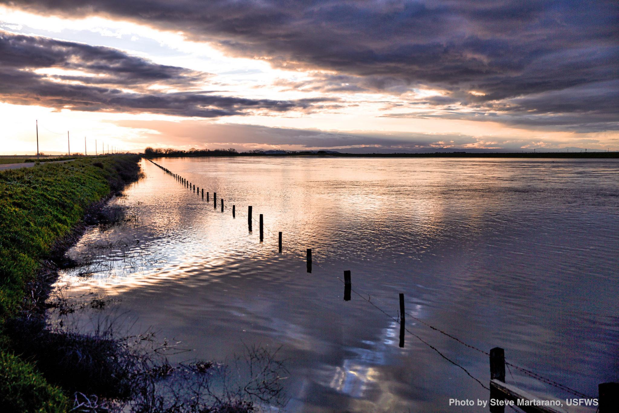 San Joaquin River at sunset