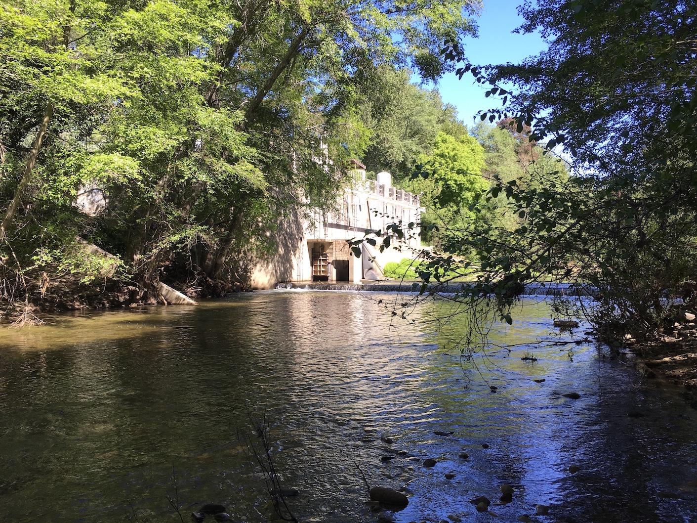 San Lorenzo River inflatible diversion dam