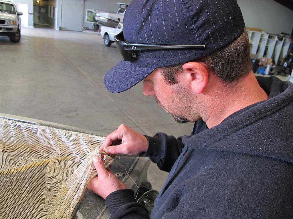 Sewing seine net