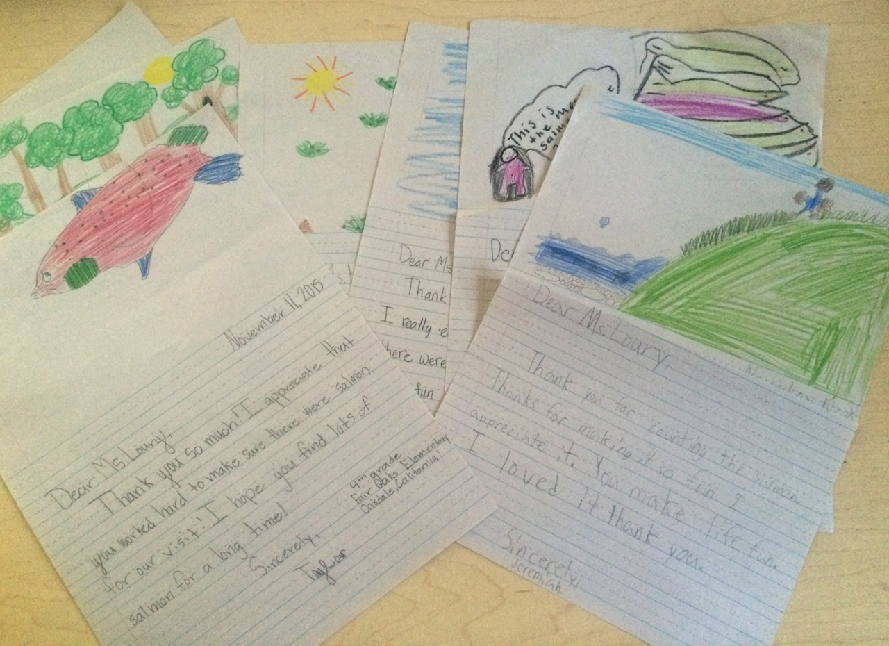 Student thank you letters