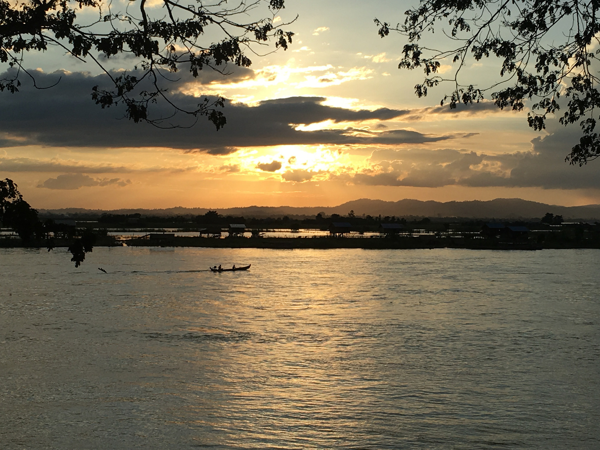 Sunset on the Ayeyarwady River Myanmar