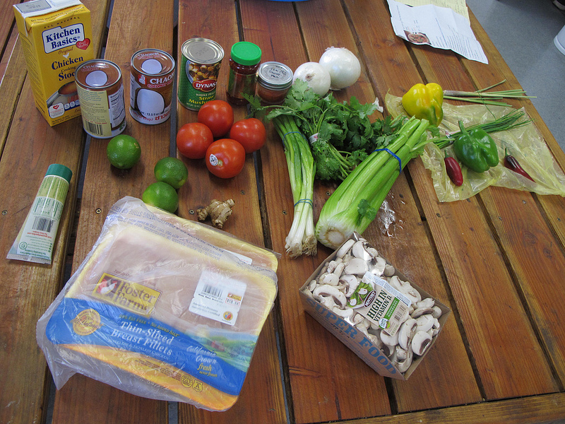 Ingredients for Tom Yum soup
