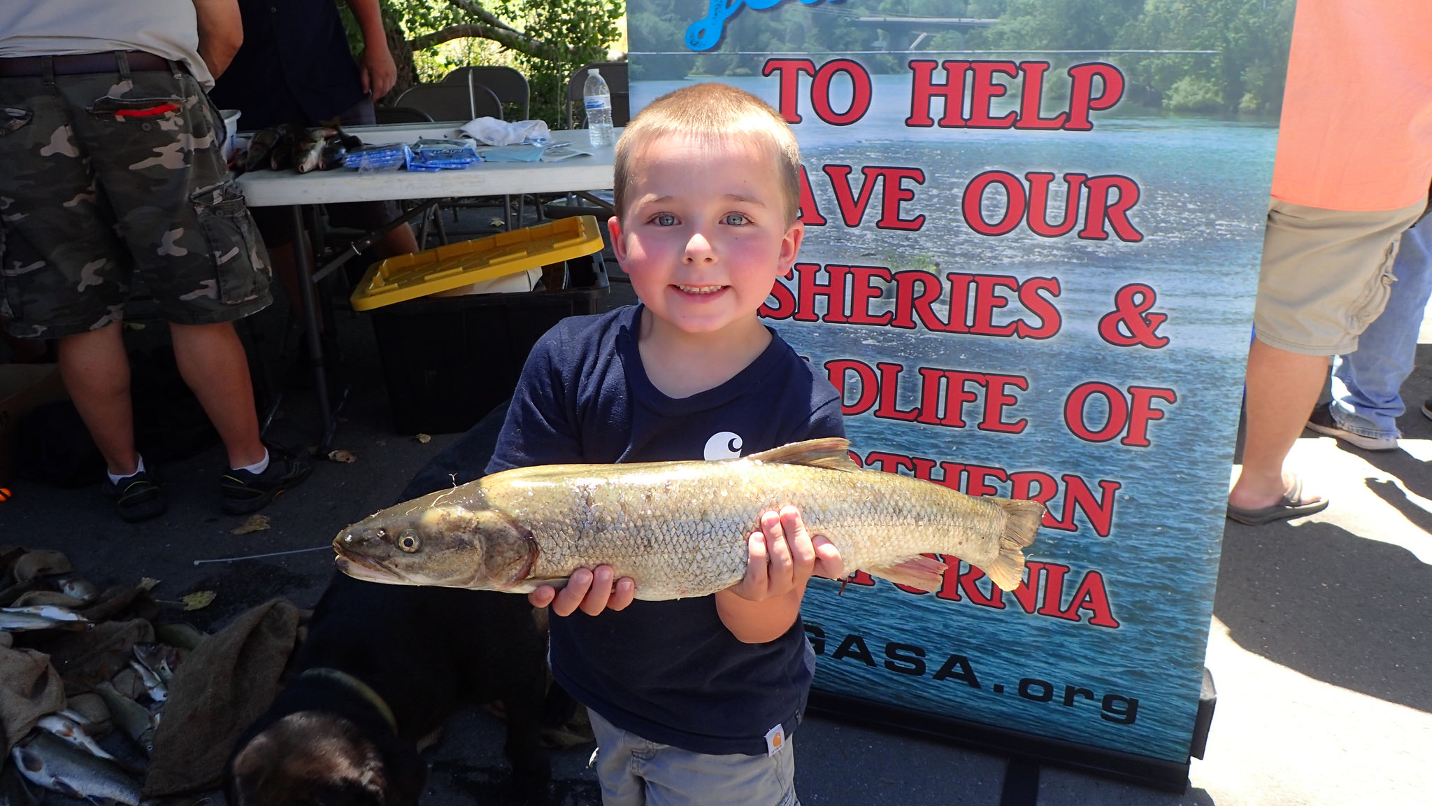 Young fisherman pikeinnow derby