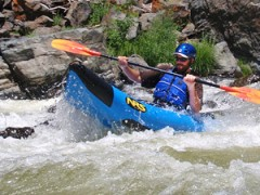 rapid river kayaking