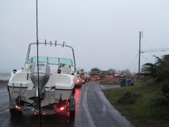 Boat gridlock